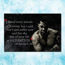 Muhammad Ali Motivational Inspirational Art Silk Canvas Poster 13x20 24x36 inches Boxing Pictures For Living Room Decor (more)-4(China)