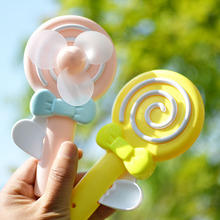 1PC Children Candy Shaped Mini Hand Operated Fan for Students Summer Cool Down Pocket Toys Kids Practical Jokes Presents 2017(China)