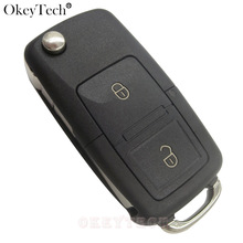 EKIY 2 Buttons Remote key Shell Flip Folding Car For VW Volkswagen polo Golf MK4 Bora Seat Altea Alhambra Ibiza For Skoda Key(China)