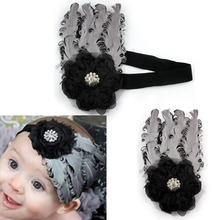 Unusual Feather Kids Hairband For Hollween Party Rhinestone Cotton Girl Head Accessories Bow Hairband Headband Flower(China)