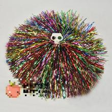 150g 10pcs/lot Cheerleading Pompom Pompoms Lala Hand Flowers Mixed Color Football Sports Competition Cheerleaders Props New