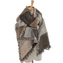 Women's Winter Thick Warm Wool Pashmina Cashmere Stole Scarves Scarf Shawl Wraps(China)