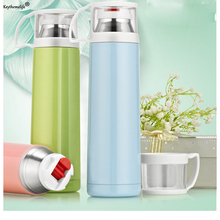 Keythemelife 500ML Thermos Cup Water Bottles Stainless Steel Thermos Mug Travel Thermo Coffee Cup Thermos Vacuum Drinkware D