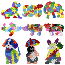3D Wooden Animals Puzzle Toys Educational Jigsaw Puzzles Toys For Kids Children