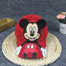 Fashion New Big Ear Mouse Cartoon Mickey Baseball Cap For Boy and Gril Gorra Cute Mouse Kid Hip Hop Caps Casquette Child Hat
