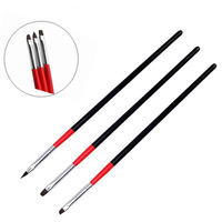 3Pcs Nail Art Brush Set UV Gel Polish Tips 3D DIY Painting Drawing Liner Pen Drawing Brushes set Manicure Tools Set Kit