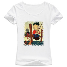 happy fisherman something wong Hot sale summer T-shirt women lovely cartoon shirts Good quality brand tees casual tops WT660(China)
