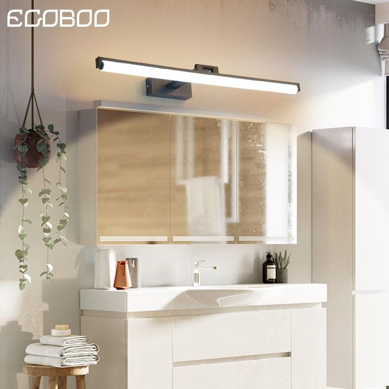 EGOBOO Wall Lamp Led bathroom mirror lights Black/White 40/60/80/cm Modern makeup dressing bathroom led mirror lamp fixture
