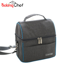 Thickness Denim Lunch Bag Thermal Cooler Waterproof Insulated Portable Tote Food Organizer Accessories Supplies Products