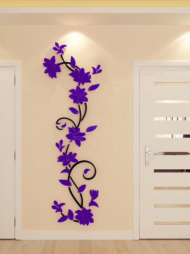 HTB1SiWWQVXXXXXNXFXXq6xXFXXXQ - 3D Acrylic Crystal Mirrored Decorative Wall Decal For Living Room
