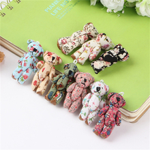 50Pcs/lot Stuffed Teddy Bear Flowers Style Joints Plush Pendant Bouquet Dolls Cheap Wholesale High Quality Cotton Materials Gif(China)