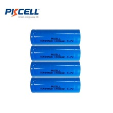 4Pcs/lot PKCELL 3.7V 1400Mah ICR18500 Lithium Rechargeable Battery 18500 li-ion Batteies For LED Flashlights(China)