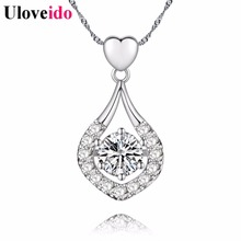 Fashion 15% Off Colar Feminino Jewelery Bijuterias Crystal Necklaces Pendants for Women Accessories Free Shipping Uloveido DML50