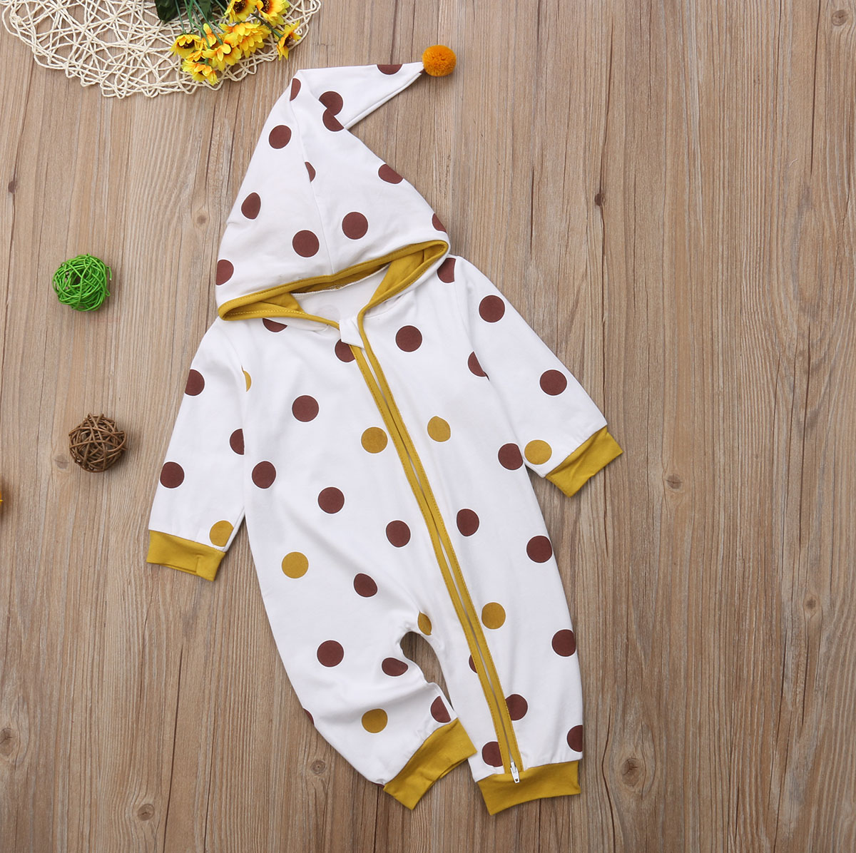 URSING Newborn Baby Boy Girl Snowsuit Fall Winter Thick Warm Jumpsuit Onesies Romper Soft Sleepsuit Cartoon Outfits 0-18 Months