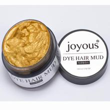 2017 new arrival Joyous One-time Dye Hair Dye Hair Spray Mud Cream Men's Hair Dye Multicolor choose Beauty tools
