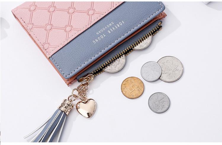 PU Leather,wallet female,wallet female women zipper,Fashion,Casual,Vintage,Black,Red,Brown,Blue,Pink wallet female leather (8)