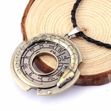 Buy Fashion Ouroboros Snake Rune Round Rope Leather Necklaces & Pendants Amulet Lucky Protective Jewelry Neck Girls for $1.34 in AliExpress store