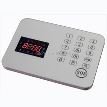 120 wireless zones colorful display touch keypad GSM remote control alarm host panel for home security system