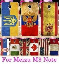 Soft TPU Hard PC Phone Cases For Meizu M3 M2 Note Meilan Note 3 Note 2 Bag Cover Retro National Flag UK Ukraine Capa Case