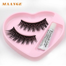 1 pair Natural Long Thick False Eyelashes Charming Eyelashes Makeup dropshipping New Free Shipping jan19