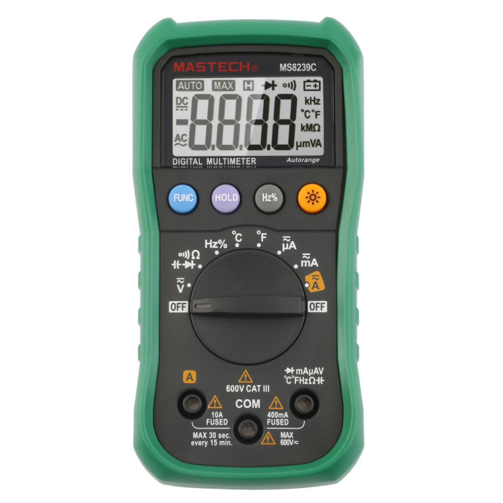 New MS8239C Handheld Auto range Digital Multimeter AC DC Voltage Current Capacitance Frequency Temperature Tester In Stock<br><br>Aliexpress