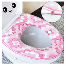 New Fashion Household Soft Toilet Seat Cover Washable Toilet Seat  with zipper or magic tape toilet seat cushion Christmas gift