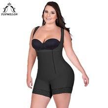 132a6dc1c9743 TOPMELON Women Sexy Body Shaper Butt Lifter Underwear Slimming Bodysuits  Zipper Plus Size High Compression Shapewear