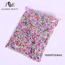 10000PCS/BAG 5mm Polymer Clay 3D Nail Art Decoration Mix Flowers Feather Fruit Fimo Cane Slice For DIY Acrylic Nail Wholesale(China)