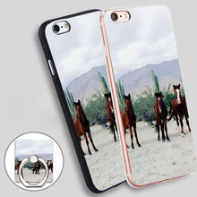 Bah a De Los Ngeles Wild Horses  Soft TPU Silicone Phone Case Cover for iPhone 5 SE 5S 6 6S 7 Plus