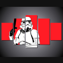 2017 HD Printed Stormtrooper Red Painting Canvas Print Room Decor Print Picture Canvas Unframed