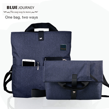 Men satchels  handbag 2017 fashion mens shoulder  bags high quality casual messenger bag college students Dual-use laptop bag
