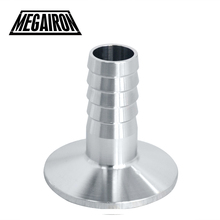 "MEGAIRON OD 19mm 3/4"" Stainless Steel SUS SS316 Sanitary Hose Barb Pipe Fitting Ferrule OD 50.5mm fit 1.5"" Tri Clamp(China)"
