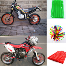 72pcs/lot, Universal Motocross Motorcycle Dirt Bike Enduro Off Road Wheel Rim Spoke Shrouds Skins Covers Fit All Motor Series