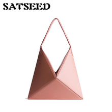 2018 Beauty Winter Chic Design Minimalist Origami Portable Shoulder Bag for Women Folding Bags Tote(China)