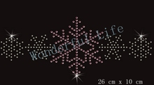 Free shipping  Christmas Snowflakes Crystal Motif Transfer Ligth Pink with white