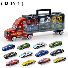 13-in-1 Big Haulage truck Pixar Cars Small Alloy Models Toy Children Educational Toys Simulation Model Gift For Children's toys