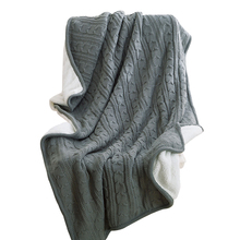 Gray Double Face Knited Thread Blankets Towel Blankets 120x180cm Summer Blankets Throw Plaids Artificial Cashmere Polyester(China)
