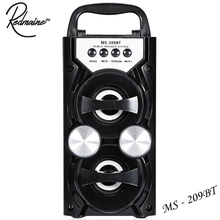 Redmaine MS - 209BT Bluetooth Speaker Portable 10W High Power Output FM Radio Wireless Supports FM TF Card Volume Control(China)
