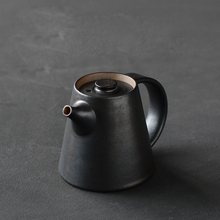 Zen Japanese Style Teapot Kung Fu Tea Set Handmade Ceramics Black Tea Hand Pot Coarse Pottery Puer Pot Creative Home Decor 225ml