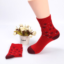 Fashion Winter Thicken Socks Small Snowflake Wool Women Girls High Quality Lovely Comfortable Discounted Warm(China)