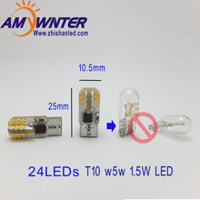 W5W LED T10 3014 Car lamps 168 194 Turn Signal License Plate Light Trunk Lamp Clearance Lights Reading lamp 12V White Red