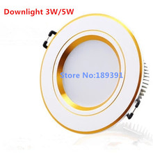 1pcs  New  dimmable 3W/5W7W LED  White/Cool White/Warm White  Recessed Cabinet Ceiling Light Downlight Soft Lam Light  Frosted