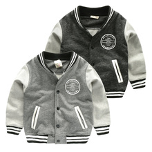 Boy knitted baseball jacket jacket 2017 new spring children's clothing Korean children's baby shirt U5503(China)