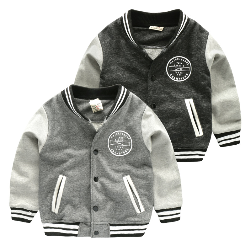 Boy knitted baseball jacket jacket 2017 new spring children's clothing Korean children's baby shirt U5503(China (Mainland))