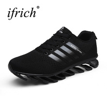 2017 Hot Sell Mens Sports Shoes Running Brand Athletic Trainers Black Breathable Running Sneakers Comfortable Jogging Shoes Men(China)