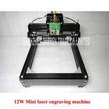 DIY USB 12W Mini laser engraving machine laser marking machine miniature cutting plotter engraving iron,ceramics,stone,wood,etc.(China)