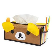 Cute Animals square tissue box / tissue pumping Pink pig Or panda Or Bear Coffee(China)