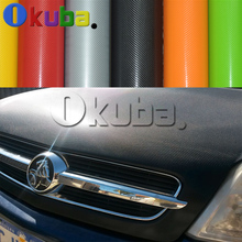 4D Glossy Carbon Fiber Car Wrap PVC Air Free Car Styling Body Color Change Sticker Sheet for Roof  Hood Interior Exterior