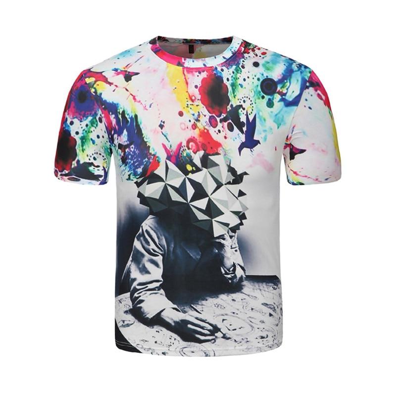 Men Women 3d T shirt Clown Print Short Sleeve T-shirt Men Fashion Brand Digital Printing Summer Round Collar Tops Tees Plus Size 6