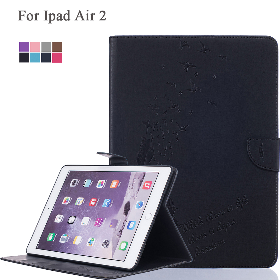 For Ipad Air 2 Case Ipad 6 9.7 Inch PU Leather Flip Stand Holder Case With Smart Sleep Function Storage Card Wallet Shell <br><br>Aliexpress
